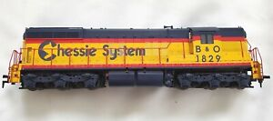 DCC Life-Like HO Scale Chessie System B&O 1829 Diesel Locomotive Engine-Tested