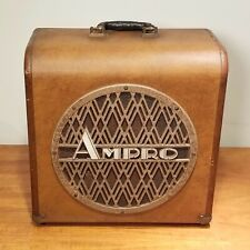 1957 Ampro 16641 12 in. Speaker in Cabinet // Guitar Amp Speaker Extension Cab