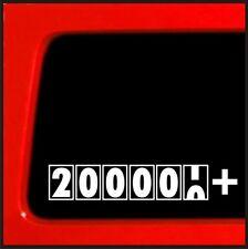 Vinyl Sticker High Mileage 200k 6-8 200,000 plus or 250,000 plus Miles Decal