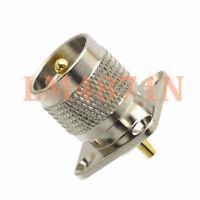 1pce Connector UHF PL259 male plug 4-hole 25.4mm flange solder panel mount