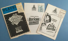 CHARLES BUSCH Set of Three Playbills/Programs