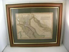1820 Framed & Authenticated Print of Northern & Middle Italy (C Smith Mapseller)