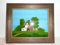 Vintage Reverse Painting House