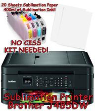Brother MFC-J485DW Sublimation Printer Bundle with Sublimation Ink & Paper