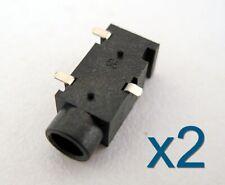 2x Connecteur à souder Jack 3,5mm Audio Stereo femelle / Female connector 3 pins