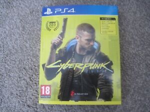 Cyberpunk 2077 Full Set With Amazon Postcards PS4 Playstation    MINT