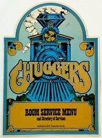 1970's Vtg Room Service Menu CHUGGERS RESTAURANT HOLIDAY INN Nashville North
