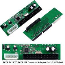 PATA IDE TO SATA Converter Adapter Plug&Play 7+15 Pin SATA HDD DVD Adapt 3.5/2.5