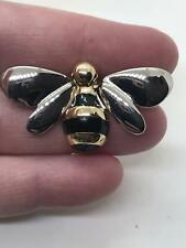 Bee Small Liz Clayborne Vintage Silver Gold Pin Brooch D-4534
