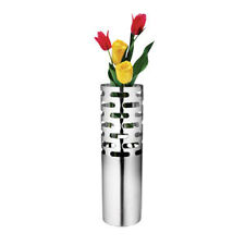 New Contemporary Stainless Steel Oval Matte Flower Vase * Stainless Steel* Nuvo