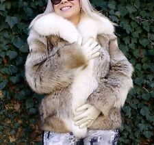 Coyote Fox Fur Coat Jacket Small Medium