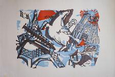 Bernard LORJOU (1908-1986) Lithographie Jeune Peinture Nle Ecole de Paris