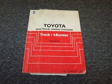 1986 Toyota Truck & 4Runner Electrical Wiring Diagram Manual Deluxe SR5 2.4L