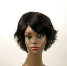 perruque afro femme 100% cheveux naturel méchée noir/cuivré SHARONA 05/1b30