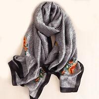 Women silk scarf female classic Leopard scarves beach wrap chiffon shawl bandana