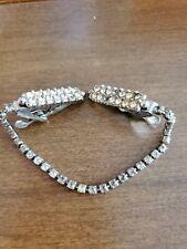 Rhinestone Look Studed Vintage Collar Tie Clip