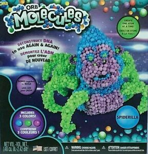 Orb Molecules Spiderilla Science Toy Build and Deconstruct DNA NEW..FREE ship