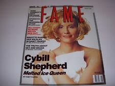 Fame Magazine, August, 1990, Cybill Shepherd Cover, Studio 54, Brigitte Bardot!