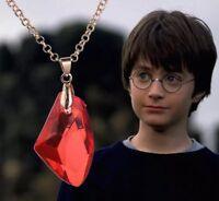 "Harry Potter Philosopher's Stone Necklace Pendant 1.5"" US Seller"