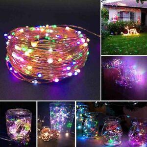 Outdoor Solar Fairy String Lights Copper Wire Waterproof Garden Decor 100LED