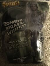 Spirit Pirate Wench Zombie Halloween Adult Women's Costume Size 14/16