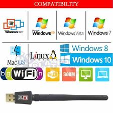 Wireless USB 300Mbps WiFi Network Card LAN Adapter Dongle Laptop PC+ Antenna