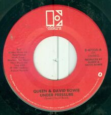 "QUEEN  & DAVID BOWIE -UNDER PRESSURE/ SOUL BROTHER ( USA ELEKTRA) 7"" 1981"