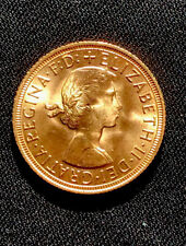 More details for 1958 full gold sovereign queen elizabeth ii. 7.98g 22ct gold. high grade