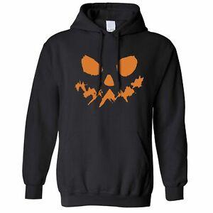 Halloween Kapuzenpullover Scary Halloween-Kürbis-Gesicht