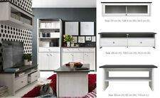 Modern Living Room Set Wall & TV Unit Coffee Table White washed Shabby Chic PR