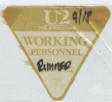 U2 Joshua Tree Tour - Backstage Runner Pass Sept 18th