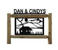 CABINS - CLINGERMANS SIGNS - RUSTIC LOG CABIN DECOR