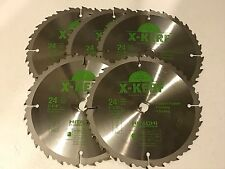 "Hitachi 7 1/4"" 24 Tooth TCT Ultra Thin Kerf Saw Blade Pack of 5"