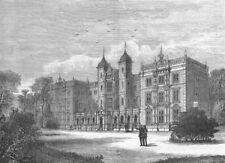 TWICKENHAM . Kneller Hall 1888 old antique vintage print picture