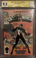 Marvel Super-Heroes Secret Wars #8 Dec 1984 CGC Graded Signed X3 Stan Lee, Look