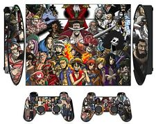 One Piece 275 Skin Sticker PS3 PlayStation 3 Super Slim with 2 controller skins