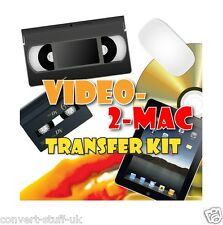 Copia / convertir / transferencia Vhs & videocámara Cintas De Video Para Apple Mac Lion Osx Dvd