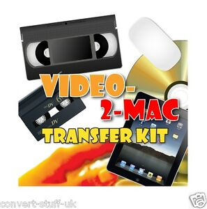 Copy / Transfer VHS & Camcorder Video Tapes to Mac OS Catalina / Big Sur MP4 DVD