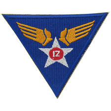 US ARMY USAAF 12th Fuerza Aérea Insignia Ww2 Repro Americano SGM Parche