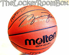 1992 Molten Dream Team Signed Michael Air Jordan Bird Magic NBA Basketball Ball