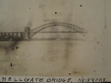 ANTIQUE HELL GATE BRIDGE NYC QUEENS MANHATTAN RR EAST RIVER EARLY BUILD PHOTO