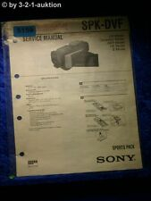 Sony Service Manual SPK DVF Sports Pack (#5159)
