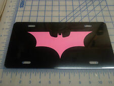 Batman Dark night car tag/ license plate (pink)