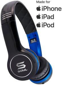 SOUL by Ludacris SL100UB Ultra Dynamic Headband On-Ear Headphones - Black/Blue