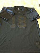 Authentic LE Reebok Shine Black Indianapolis Colts  #18 Peyton Manning XL Jersey