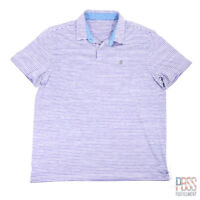 Izod Golf Mens XL Short Sleeve Polyester Stretch Polo Shirt Striped Purple