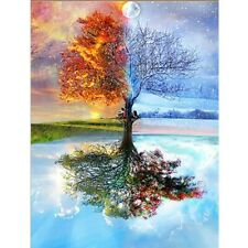 5D Full Drill Diamond Painting Embroidery Cross Stitch Kits Art Four Season Tree
