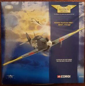 Corgi Aviation Archive Hawker Hurricane MKII-BE421 174 Sqd AA32001 1:72