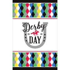 KENTUCKY DERBY DAY PAPER TABLE COVER ~ Birthday Party Supplies Cloth Decoration