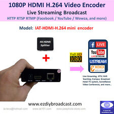 Portable HDMI H.264 encoder for RTMP Facebook Live YouTube IPTV live streaming